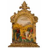 *Christus und der Hauptmann von Kafarnaum Italo-kretische Ikone, 17. Jh. 24,5 x 17 cm Die, wie das