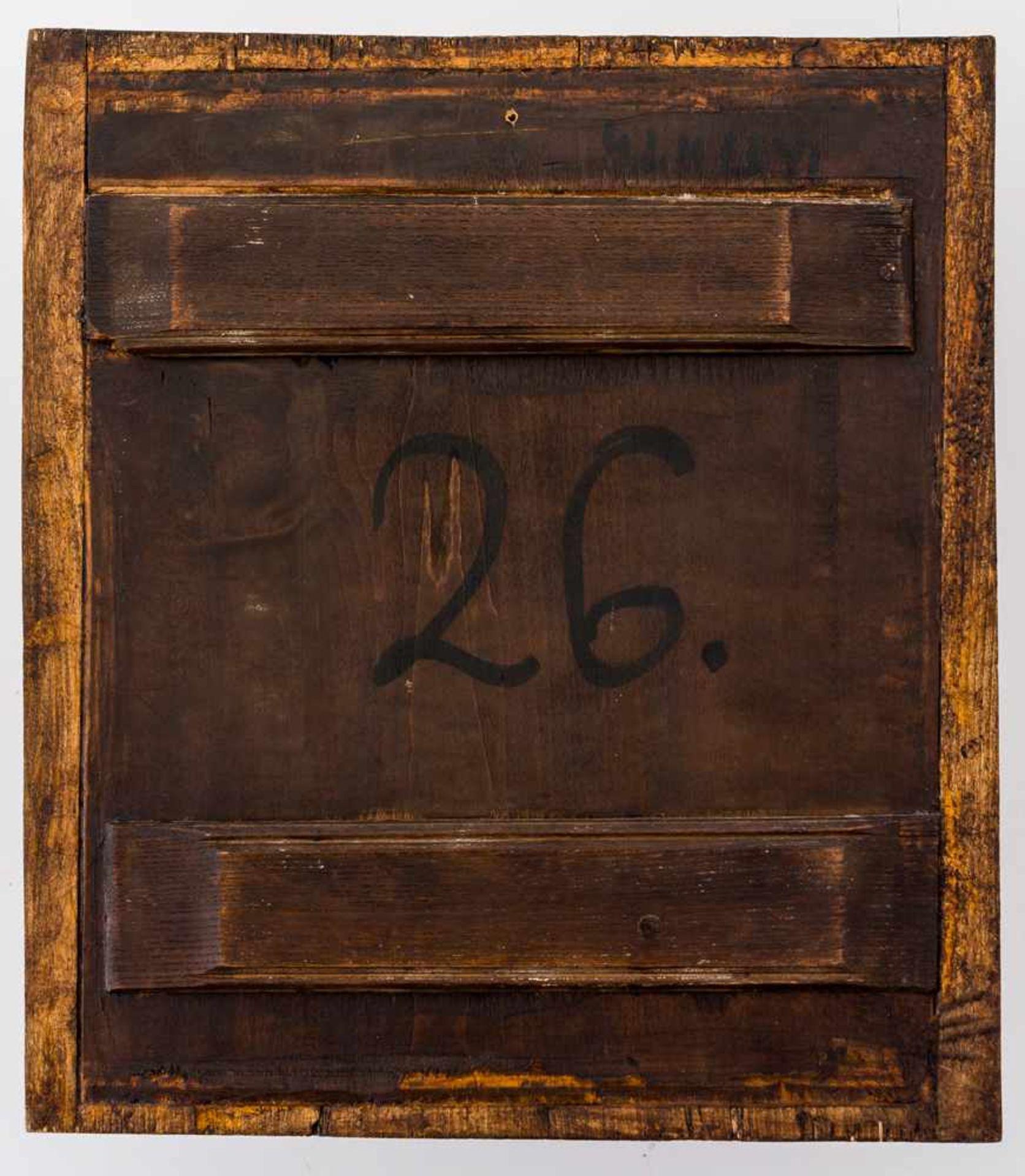 *Gottesmutter von Kasan Russische Ikone, Ende 19. Jh. 37,5 x 33 cm Am Rand sind links der hl. - Bild 2 aus 2