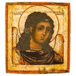 *Erzengel Michael Russische Ikone, um 1700 31,5 x 29 cm Der Hintergrund ist Blattgold. Provenienz: