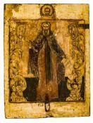 *Hl. Sergius von Radonesh Russische Ikone, 2. Hälfte 17. Jh. 31 x 23,5 cm Am 3. Mai 1314 wurde der