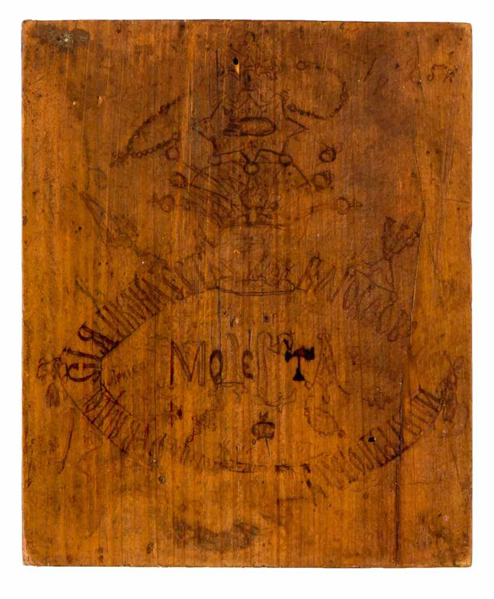 *Gottesmutter Pochaevskaja Russische Ikone, um 1900 13,2 x 11 cm Nach der Legende erschien im - Bild 2 aus 2