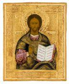 *Christus Pantokrator Russische Ikone, um 1900 13,5 x 11 cm Provenienz: Norddeutsche