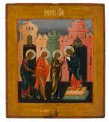 *Darstellung Jesu im Tempel Russische Ikone, um 1900 31 x 26,5 cm Provenienz: Bayerische