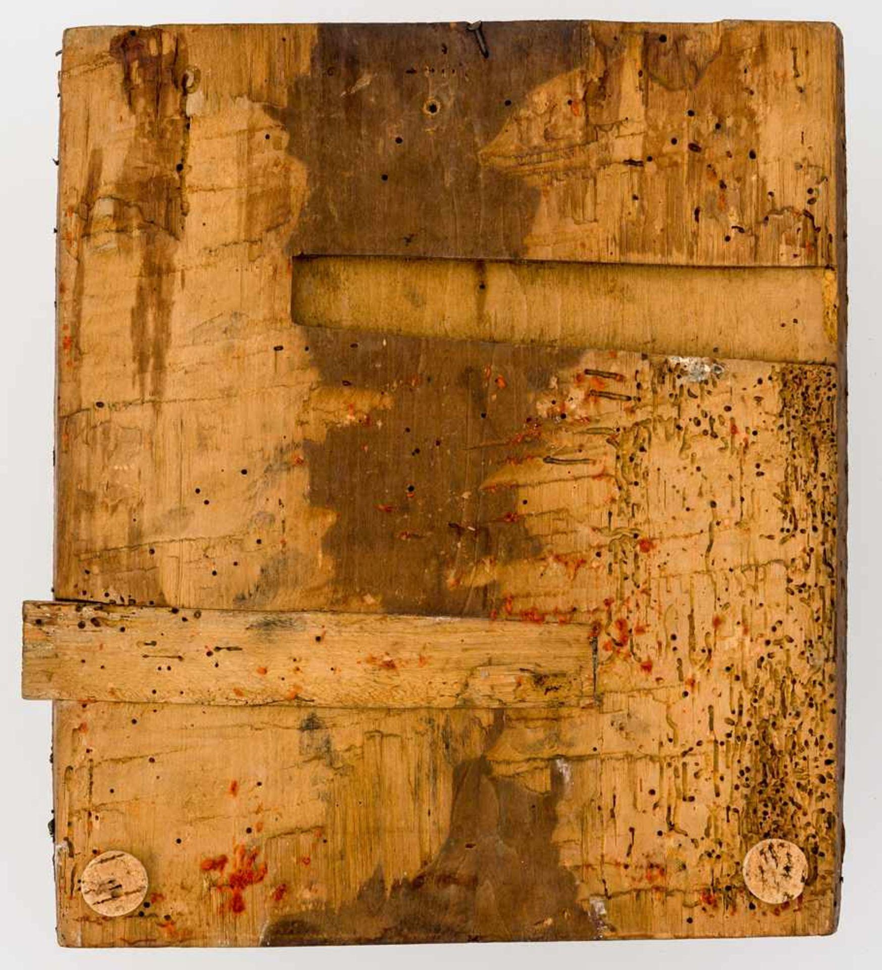 *Gottesmutter des Zeichens (Známenie) Russische Ikone, um 1700 31 x 27 cm Provenienz: Westdeutsche - Bild 2 aus 2