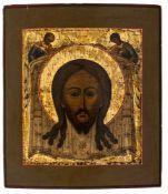 """*Mandylion Jesu und Christus """"Das Grimme Auge"""" Russische Ikonen, 19. und 20. Jh. 35,5 x 30,5 cm"""