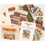 Konvolut Ukraine Zeitungen, Muster, Postkarten, etc., erste Hälfte 20. Jh. von 9 x 14 cm bis 47 x 32