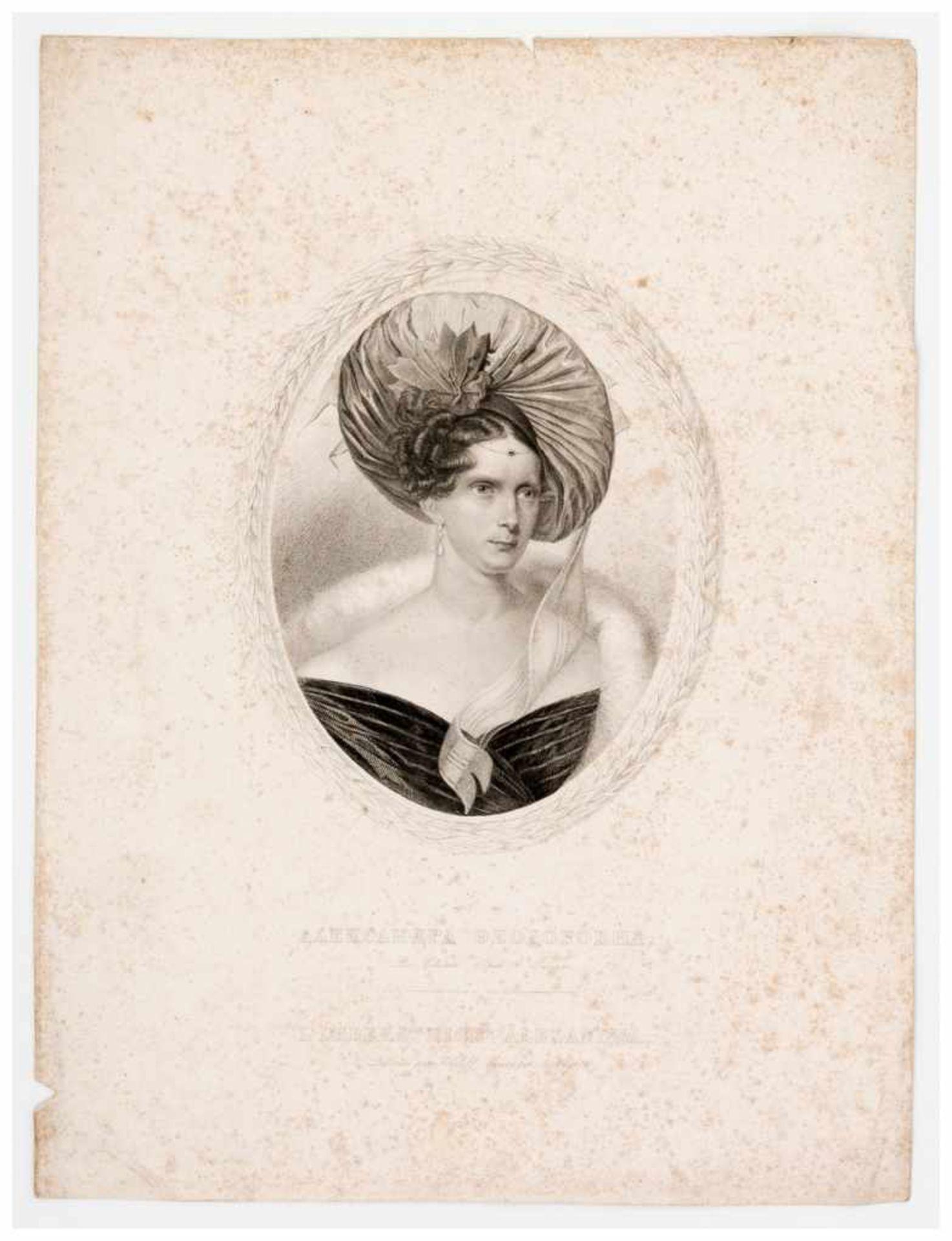 Los 42 - Kaiserin Alexandra Fjodorovna Lithographie , um 1840 von T. Wright nach Sokolov Papiergrösse: ca.
