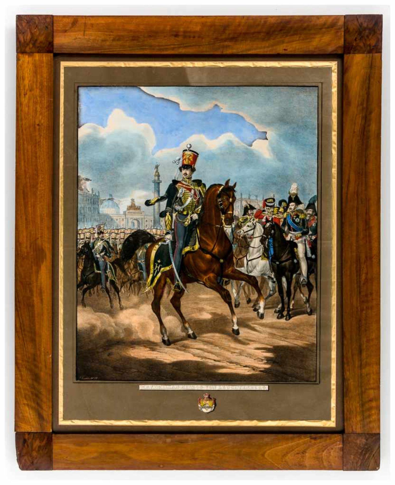 Los 54 - Maximilian, Herzog von Leuchtenberg Altkolorierte Lithographie von Gustav Kraus, signiert und