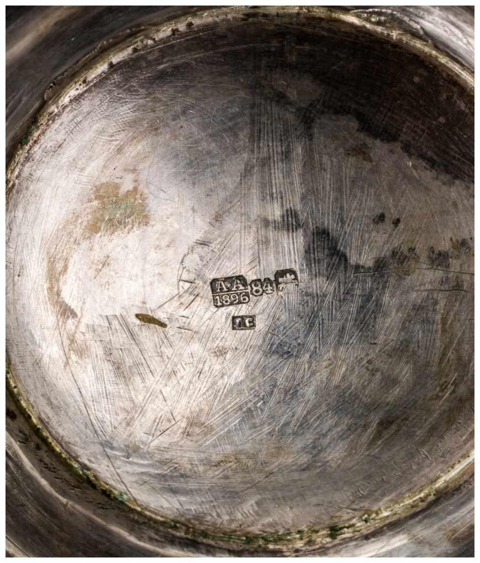 Los 18 - Zuckerdose Moskau, 1896 Silber, innen vergoldet, 408g Beschaumeister: Anatoly Artsibashov (1891-