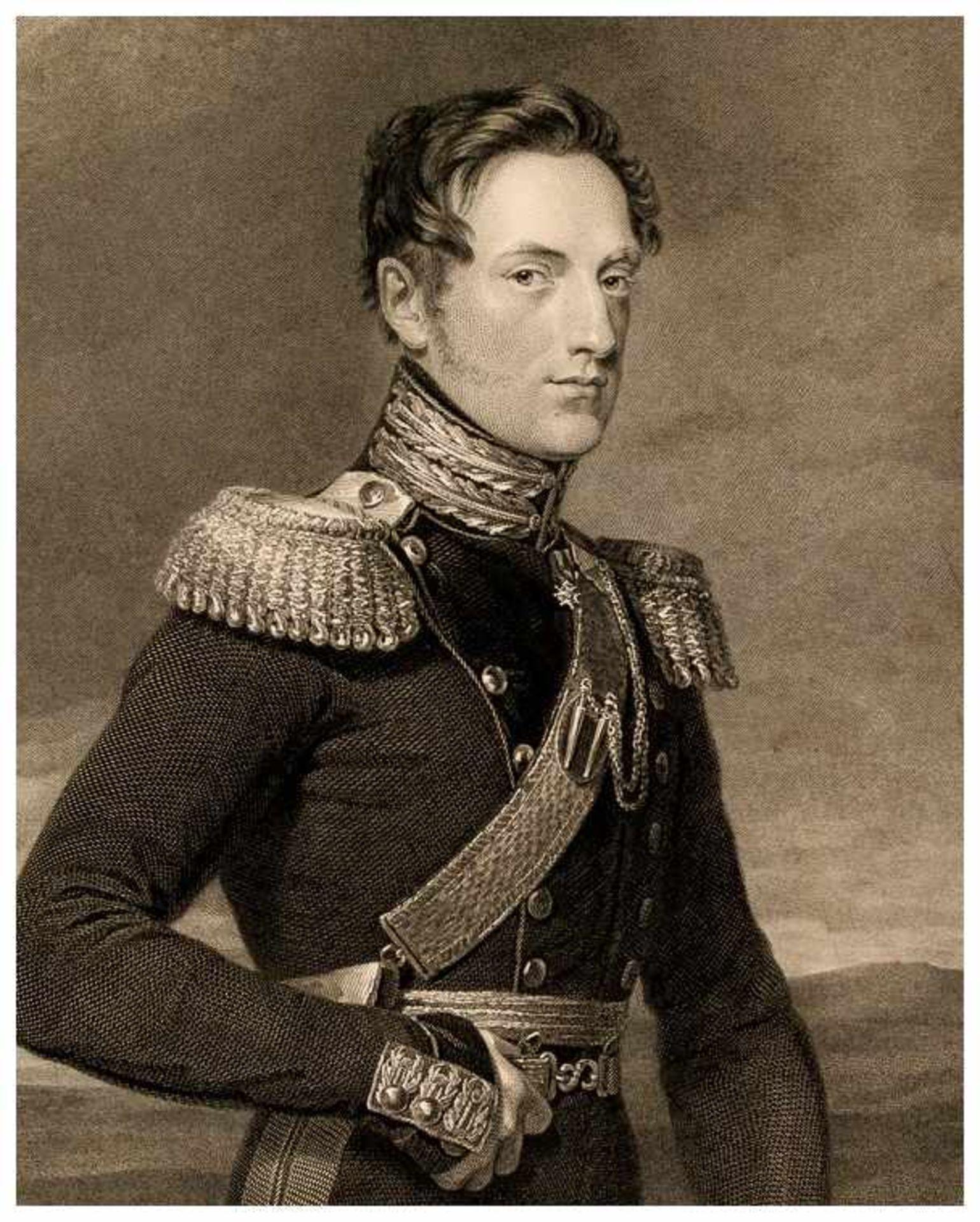Zar Nikolaus I. Stahlstich, publiziert 1826 von John Hebry Robinson nach George Dawe Papiergrösse: