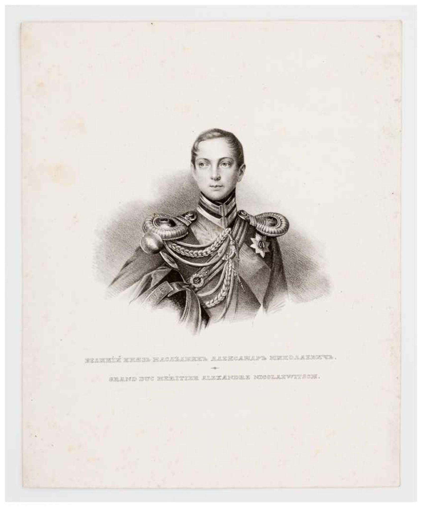 Los 48 - Grossherzog Alexander Nicolaevitsch, der spätere Zar Alexander II. Lithographie, um 1850