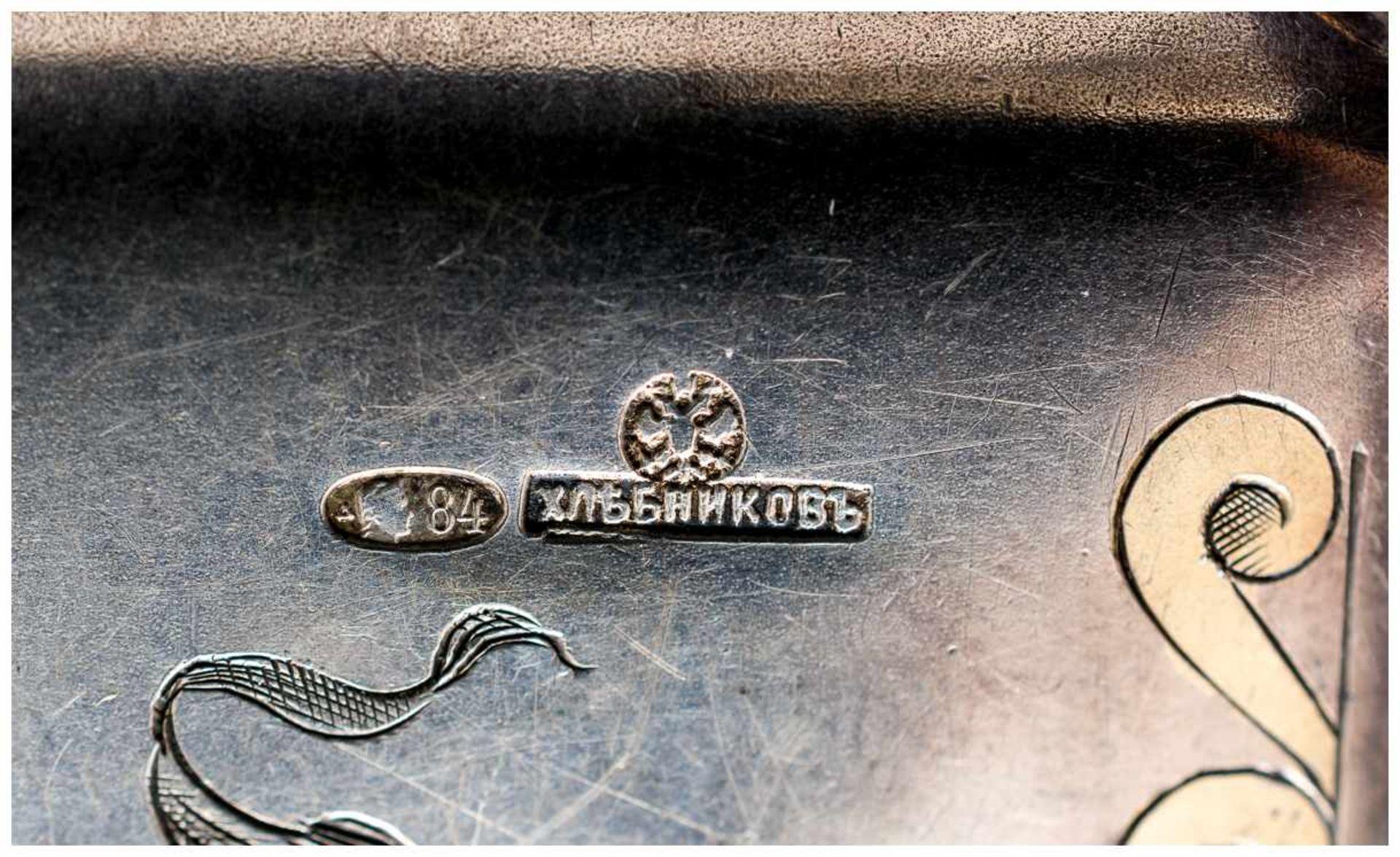 Abendtasche Moskau, 1908 - 1917 Silber, 124g Meister: Khlebnikov 6,5 x 11 cm Ladies Opera Purse // - Bild 3 aus 3
