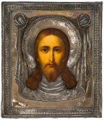 Mandylion Russische Ikone mit Silberoklad, St. Petersburg 1890 Beschaumeister: unbekannt Meister: