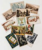 Konvolut jüdische Postkarten je ca. 10,2 x 14,9 cm Provenienz: Norddeutsche Privatsammlung *Jewish