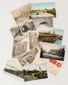 Konvolut ukrainische / russische Postkarten je ca. 9 x 14 cm Provenienz: Norddeutsche Privatsammlung