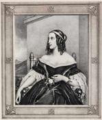 Grossfürstin Maria Nikolajevna von Russland Lithographie, um 1840, von D. Haiz nach J. Stieler