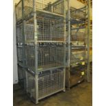 Lot: (16) Stackable Metal-Wire Containers. HIT# 2188131. Building 1. Asset(s) Located at 1578