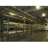 Lot: (4 Tier, 11 sections) Warehouse Pallet Racking, T-Bolt Style. Consisting of: (12) Upright