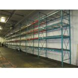 Lot: (4 Tier, 10 sections) Warehouse Pallet Racking, Redirack Style. Consisting of: (11) Upright