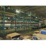 Lot: (3 Tier, 9 sections) Warehouse Pallet Racking, Keystone Style. Consisting of: (10) Upright