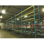 Lot: (5 Tier, 10 sections) Warehouse Pallet Racking, Redirack Style. Consisting of: (10) Upright