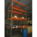 Lot: (4 Tier, 3 sections) Warehouse Pallet Racking, Teardrop Style. Consisting of: (5) Upright