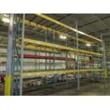 Lot: (2 Tier, 2 sections) Warehouse Pallet Racking, Slotted Angle Style. Consisting of: (3) Upright