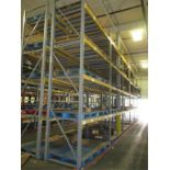 Lot: (4 Tier, 12 sections) Warehouse Pallet Racking, Slotted Angle Style. Consisting of: (12)