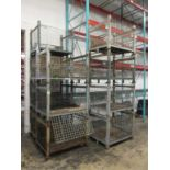 Lot: (12) Stackable Metal-Wire Containers. HIT# 2188130. Building 1. Asset(s) Located at 1578