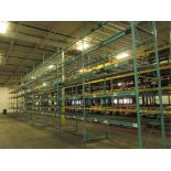 Lot: (5 Tier, 11 sections) Warehouse Pallet Racking, Redirack Style. Consisting of: (12) Upright