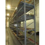 Lot: (4 Tier, 11 sections) Warehouse Pallet Racking, Slotted Angle Style. Consisting of: (12)