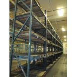 Lot: (4 Tier, 12 sections) Warehouse Pallet Racking, T-Bolt Style. Consisting of: (1) Upright