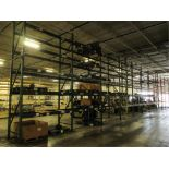 Lot: (5 Tier, 11 sections) Warehouse Pallet Racking, Teardrop Style. Consisting of: (11) Upright