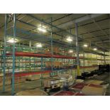 Lot: (4 Tier, 9 sections) Warehouse Pallet Racking, Redirack Style. Consisting of: (10) Upright