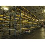 Lot: (4 Tier, 11 sections) Warehouse Pallet Racking, Slotted Angle and (1 section) T-Bolt Style.