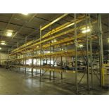 Lot: (4 Tier, 11 sections) Warehouse Pallet Racking, Slotted Angle Style. Consisting of: (14)