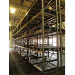 Lot: (4 Tier, 16 sections) Warehouse Pallet Racking, Slotted Angle Style. Consisting of: (10)