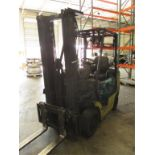 Komatsu FG25ST-12 4-Wheel LP Gas Forklift Truck [propane not included]. Hours: 10897.8; Triple-Stage