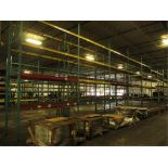 Lot: (4 Tier, 11 sections) Warehouse Pallet Racking, Redirack Style. Consisting of: (11) Upright