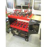 CNC Tool Cart. Huot ToolScoot CNC CAT-40 Tool Cart Transport with (34+) Assorted Tools Holders. HIT#