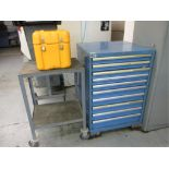Tooling Cabinet. Lista 10-Drawer Tooling Cabinet with Contents. Includes: Circular Saws & Arbors,