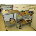 Carts with Contents. Lot: (2) Shop Carts with the Following Contents: (1) System 3R Presetting
