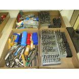 Assorted Tools. Lot: Assorted Tools. Includes: Endmills, Ball Endmills, Drill Bits. HIT# 2205838.
