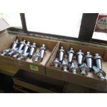 Collet Chucks. HPI-Pioneer Lot: (20) CAT-40 Taper Balanced Collet Chucks. HIT# 2205814. CNC Room.