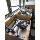 """CNC Accessories. Lot: Assorted CNC Accessories. Includes: Mill Stops, Cold Guns and """"Rubber Hog"""""""
