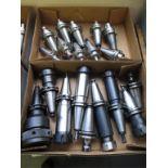 Collet Chucks. HPI-Pioneer Lot: (21) CAT-40 Taper Balanced Collet Chucks. HIT# 2205816. CNC Room.