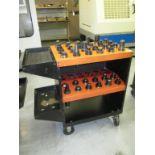 CNC Tool Cart. Huot ToolScoot CNC CAT-40 Tool Cart Transport with (35) Assorted Tools Holders.