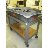 """Surface Plate. Precision 24""""x 48""""x 6 1/2"""" Granite Surface Plate with Heavy Duty Rolling Cart. HIT#"""