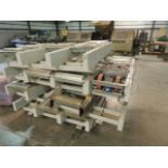 Power conveyor, ABB electric motors, including legs. HIT# 2158123. North Warehouse. Asset Located