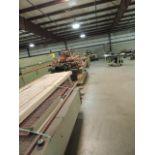 WILD Slab Stacker. Motor driven belt conveyor, slab stacker with uprights cross beam suction lifter,